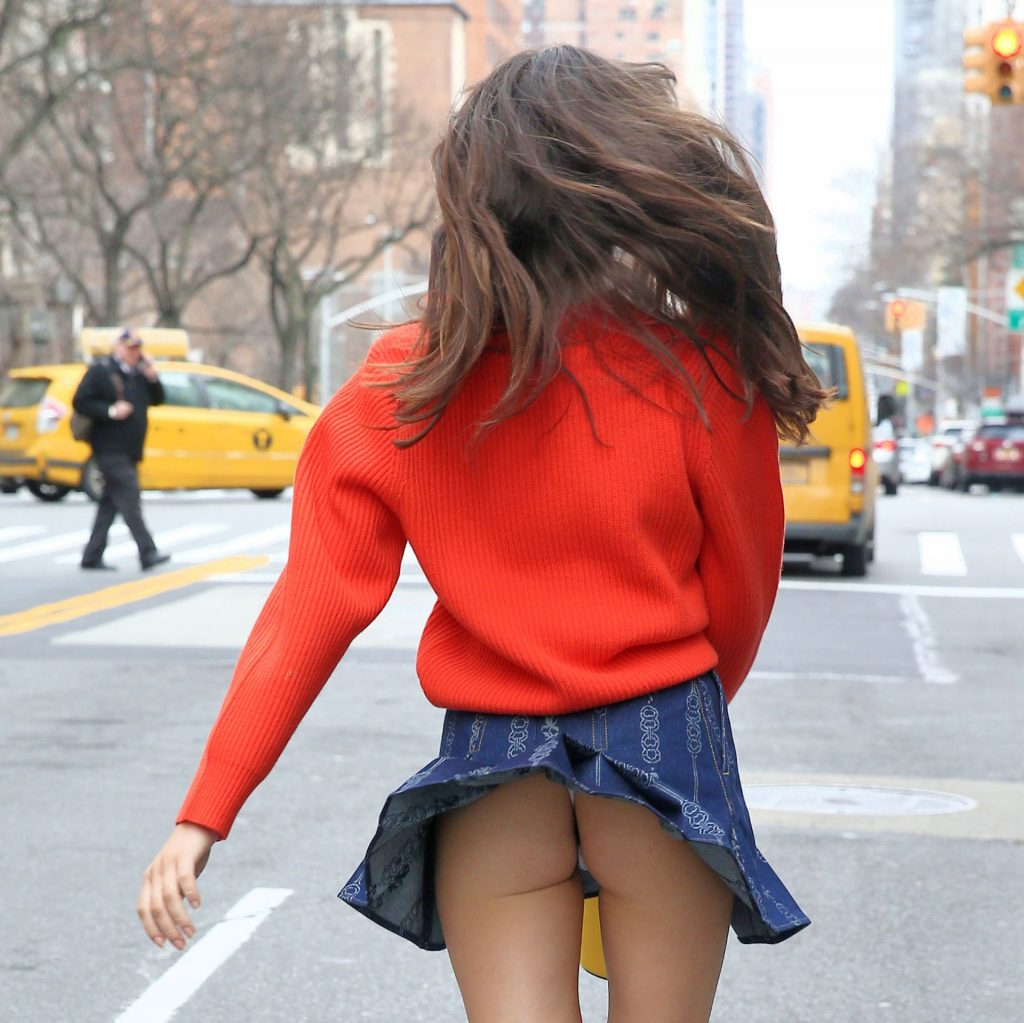 Charlotte D'Alessio Suffers a Wardrobe Malfunction in New York City (25 Photos)