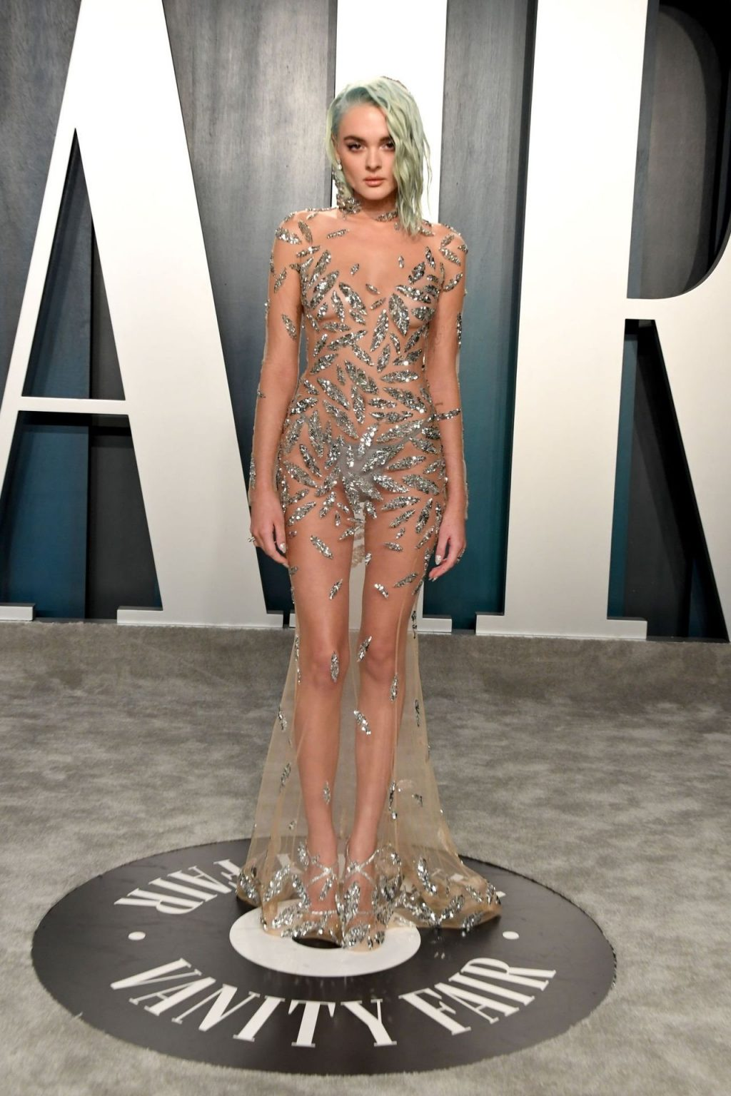 Charlotte Lawrence Stuns in a See-Through Dress at the Vanity Fair Oscar Party (39 Photos)