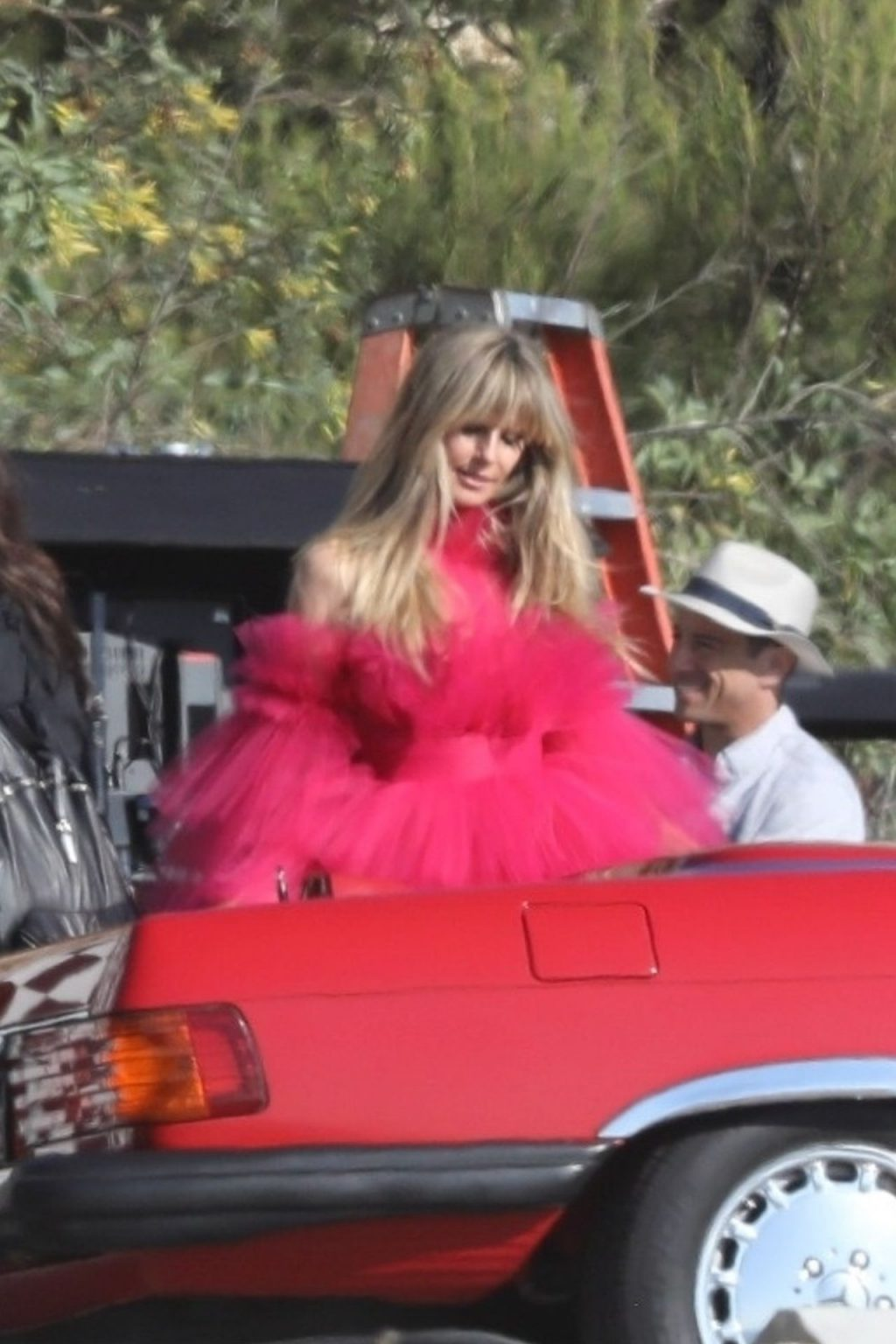 Heidi Klum Slips Into a Red Dress in Malibu (72 Photos)
