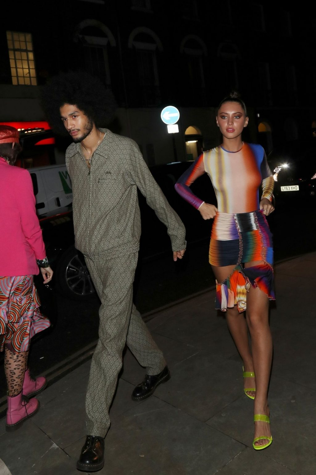 Braless Iris Law Seen at the Love Magazine Party Wearing a Multicolored Outfit (42 Photos)
