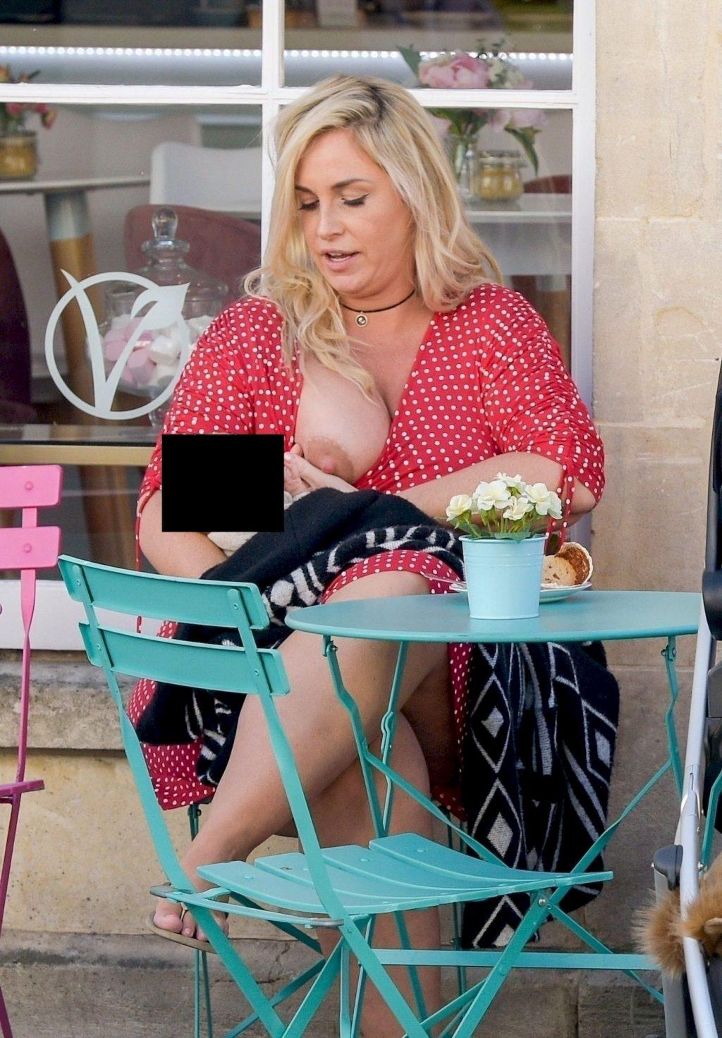 Josie Gibson Shows Her Tits In Public (8 Photos)