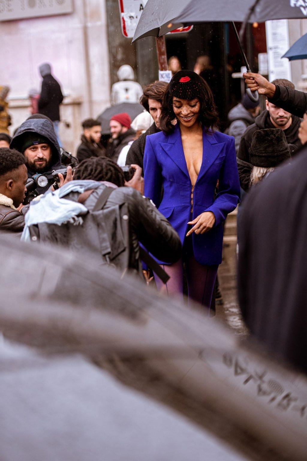 Jourdan Dunn Attends the Mugler Show in Paris (29 Photos)