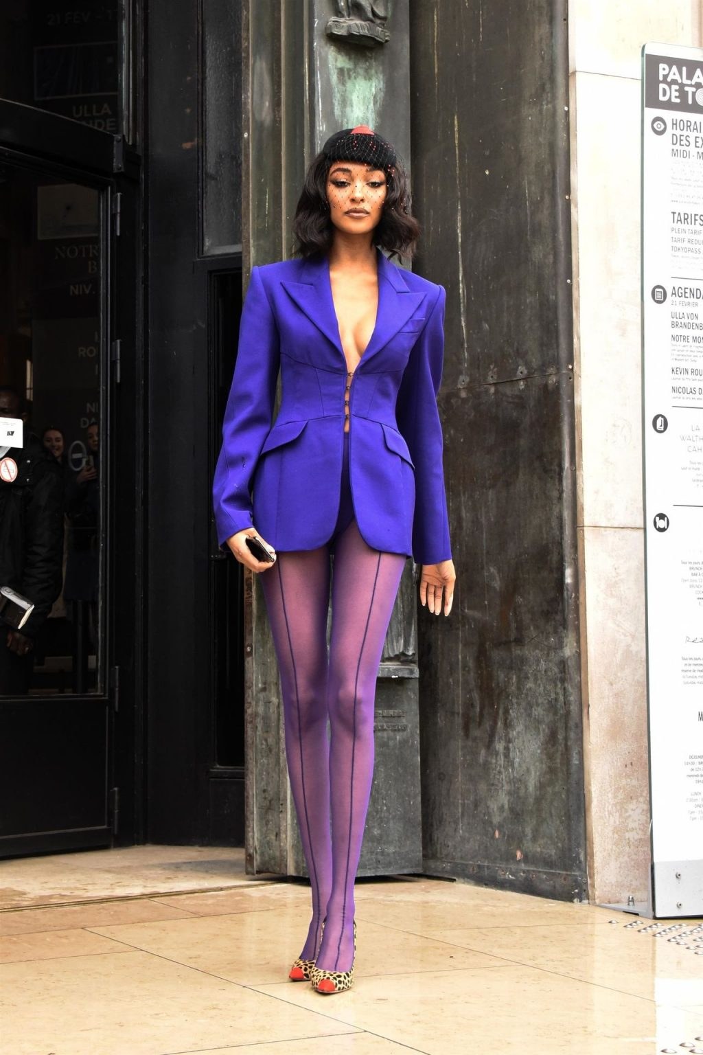 Jourdan Dunn Attends the Mugler Show in Paris (29 Photos)