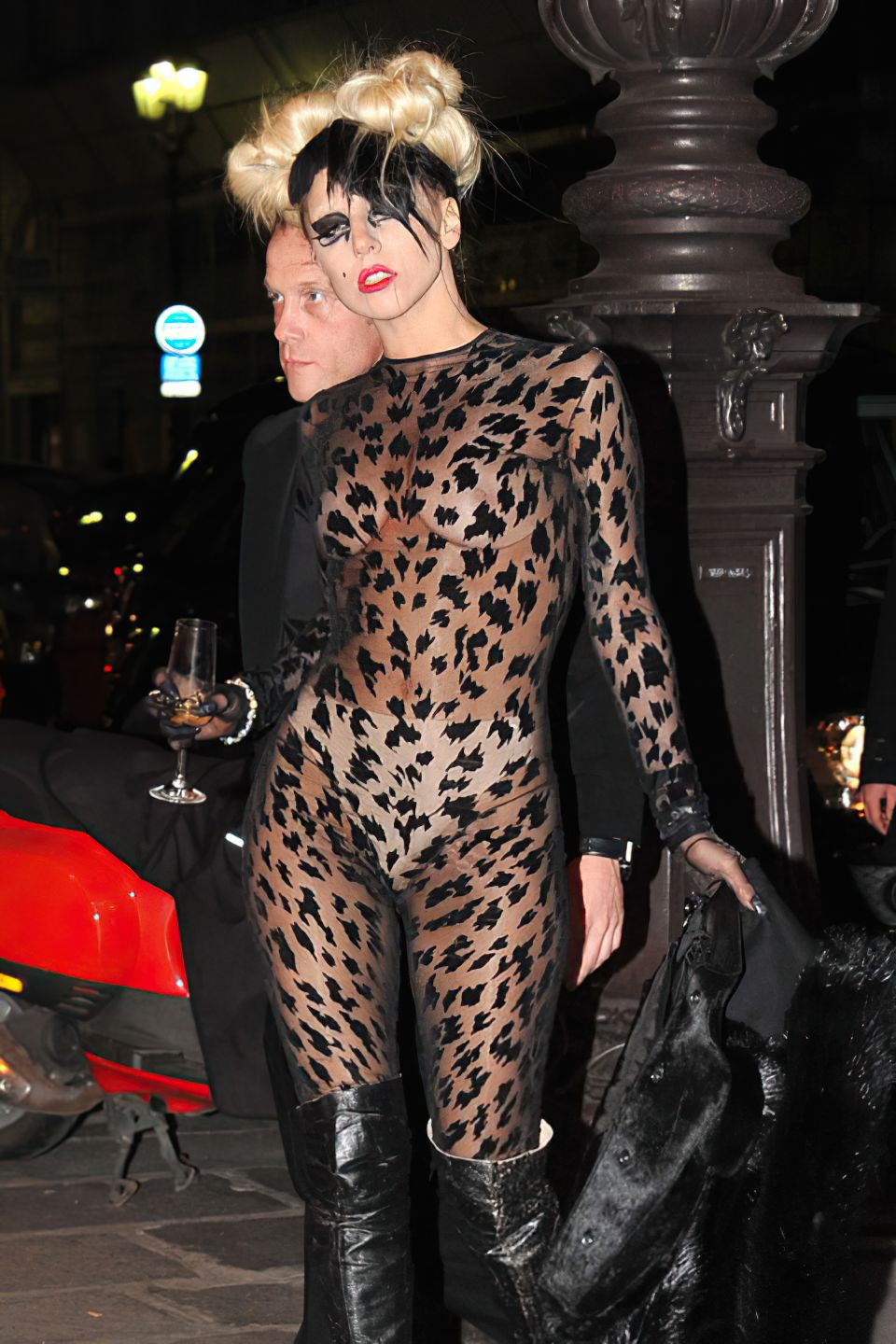Lady Gaga Looks Hot in a See Through Outfit (4 Photos)