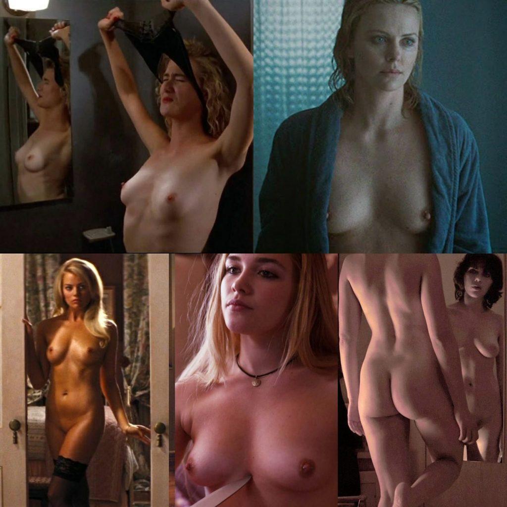 Laura Dern, Charlize Theron, Margot Robbie, Florence Pugh, Scarlett Johansson Nude (1 Photo)