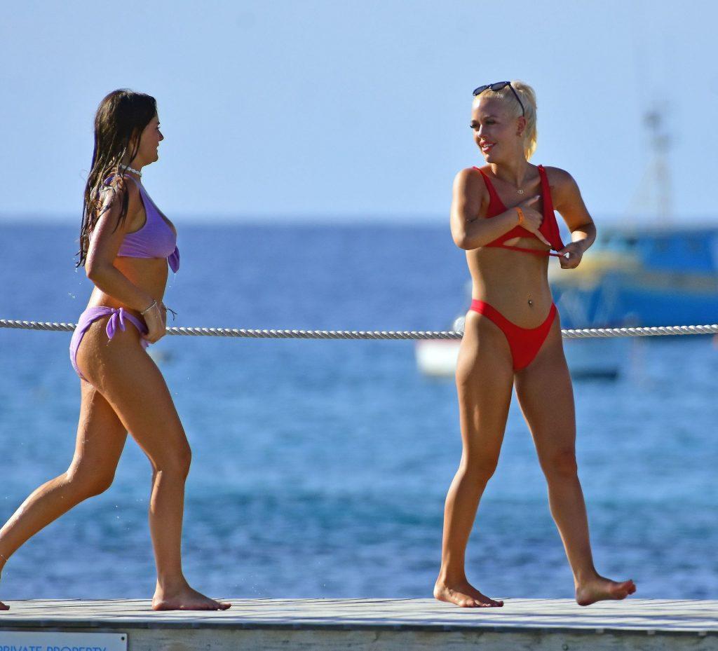 Lottie Tomlinson Flaunts Her Sensational Body in a Bikini in Barbados (88 Photos)