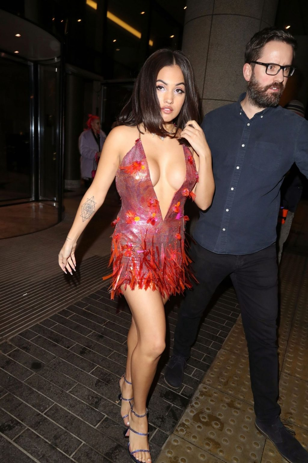 Mabel is Sexy in a Red Dress as She Attends the Brit Awards Afterparty (19 Photos)