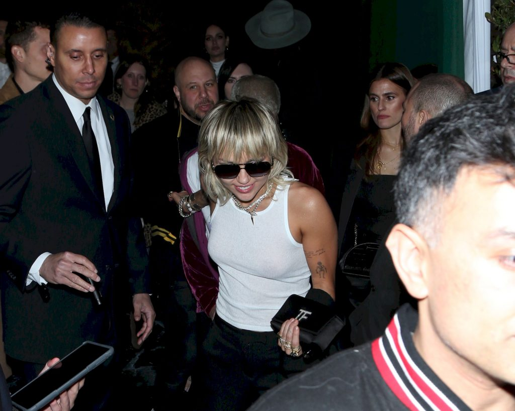 Miley Cyrus Leaves Chateau Marmont Wearing a Plain White Tank Top (30 Photos)
