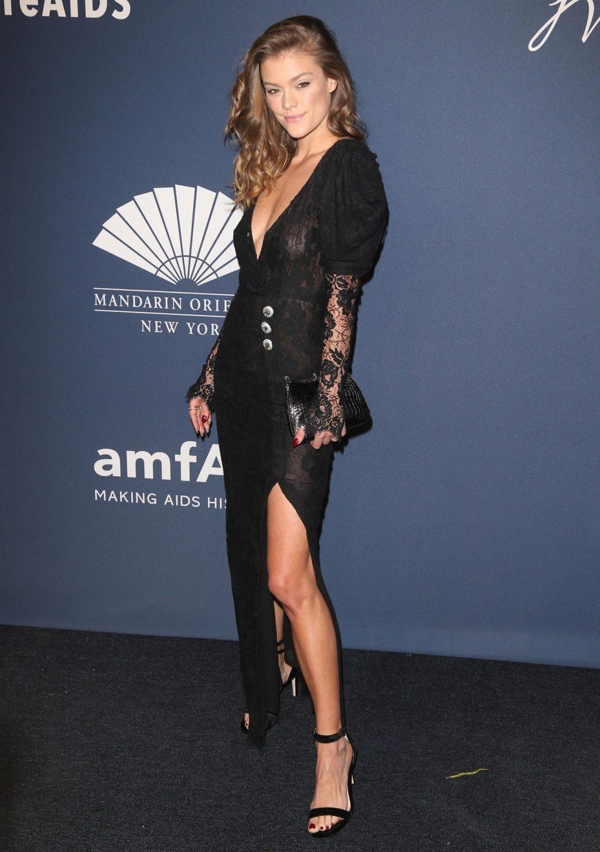 Braless Nina Agdal Pictured at the 2020 amfAR New York Gala (60 Photos)