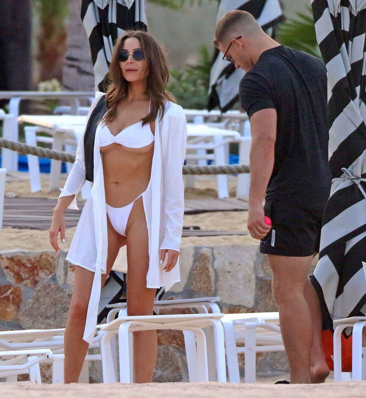 Olivia Culpo Displays Her Amazing Sexy Body in a White Bikini (28 Photos)