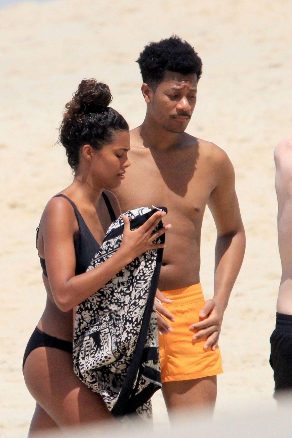 Tina Kunakey Enjoys the Rio Sunshine in a Sexy Black Bikini (27 Photos)