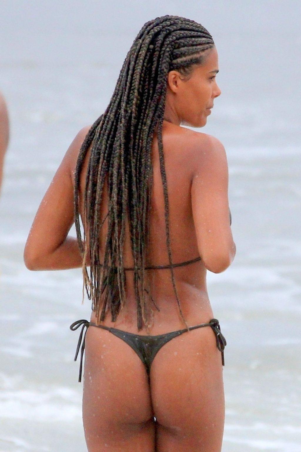 Stunning Tina Kunakey Displays New Braids and Sexy Bikini Body in Rio (46 Photos)