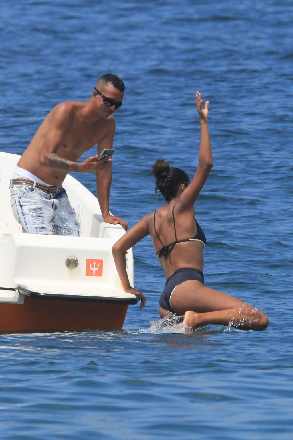 Tina Kunakey Shows Off Her Sexy Body While on Vacation With Vincent Cassel (13 Photos)