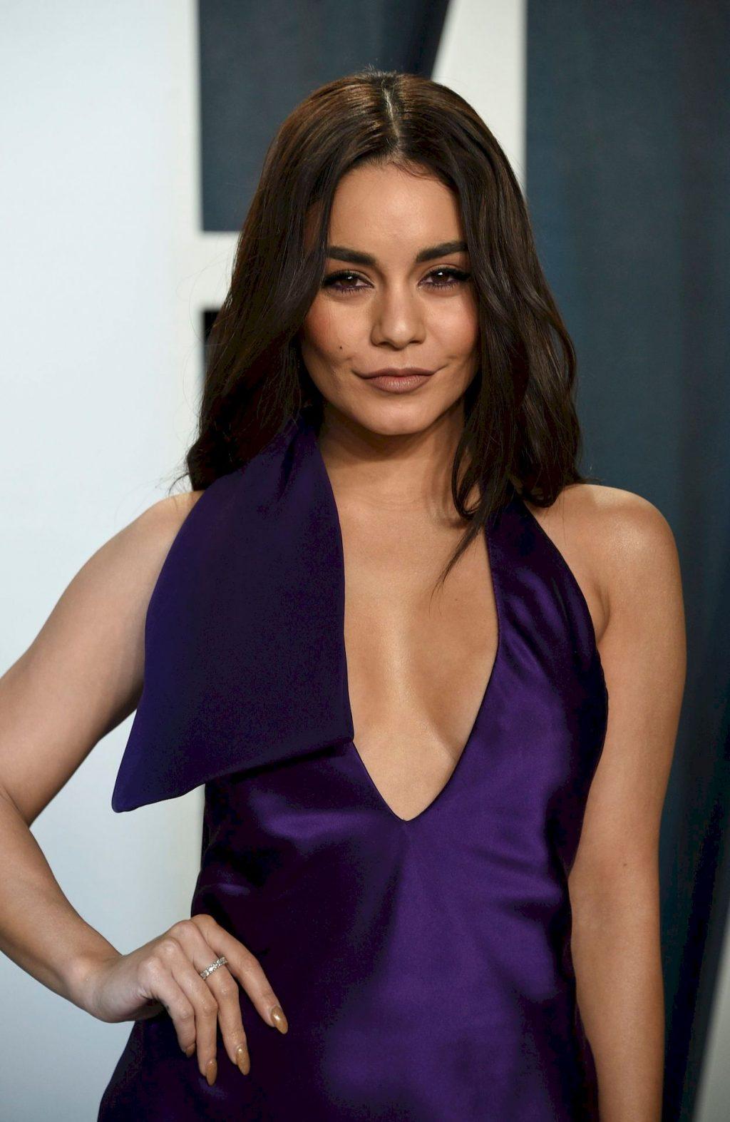 Vanessa Hudgens Looks Sexy in a Purple Dress at the Vanity Fair Oscar Party (45 Photos)