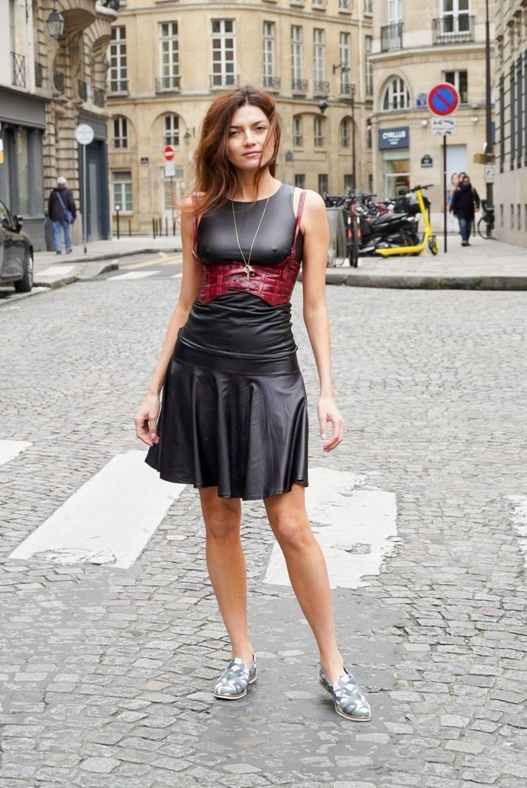 Blanca Blanco Poses For Photos While Out in Paris (12 Photos)