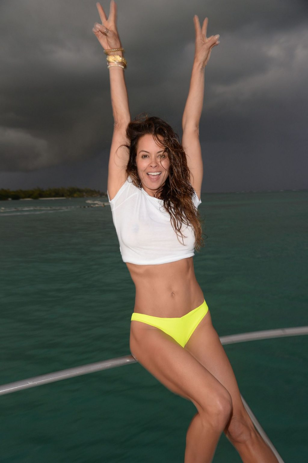 Brooke Burke Shows Her Tits on a Yacht (16 Photos)