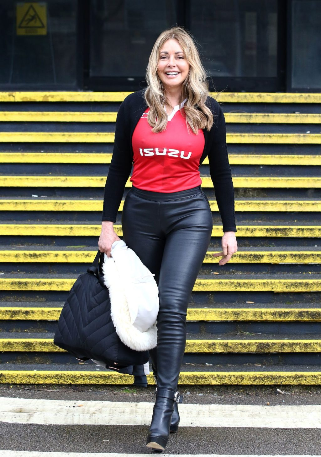 Carol Vorderman Is All Smiles As She Is Seen Arriving At The BBC Radio Wales Studios In Cardiff (26 Photos)