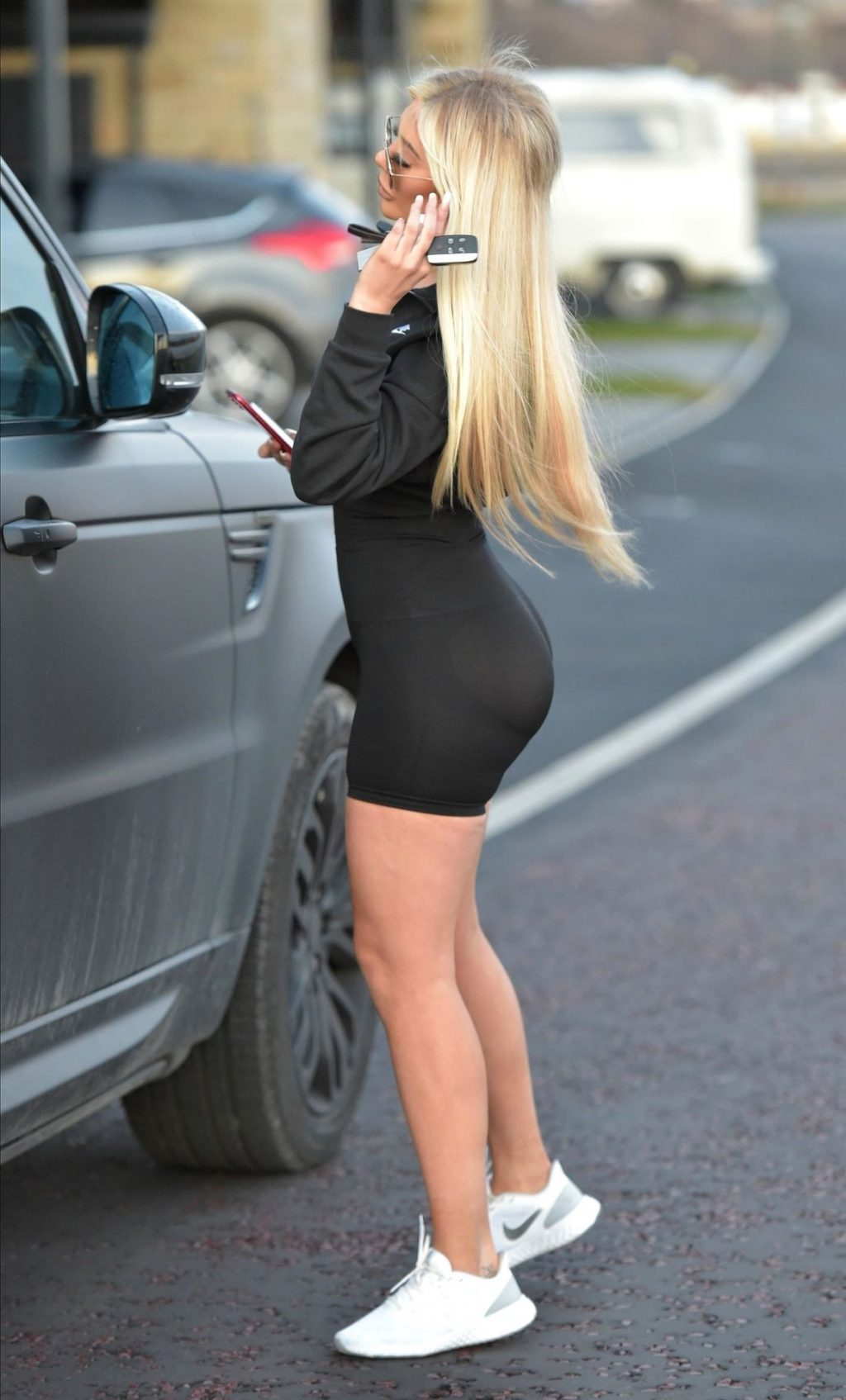Chloe Ferry Shows Off Her Butt in Newcastle (6 Photos)