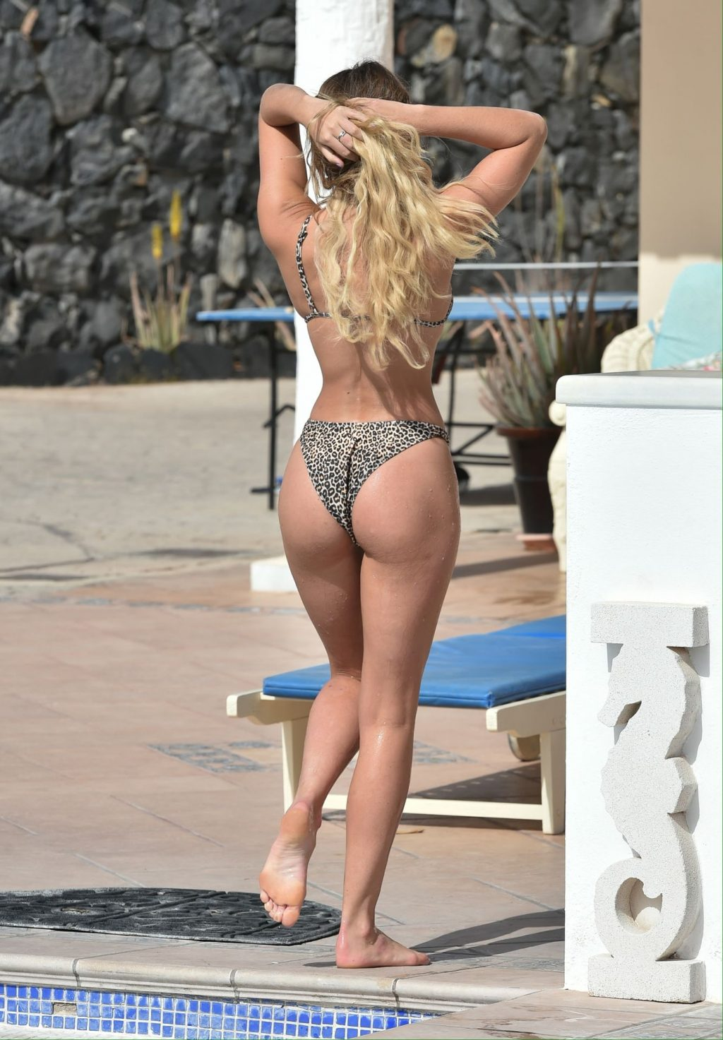 Georgia Harrison Enjoys A Day by The Pool at Her Hotel In Tenerife (25 Photos)