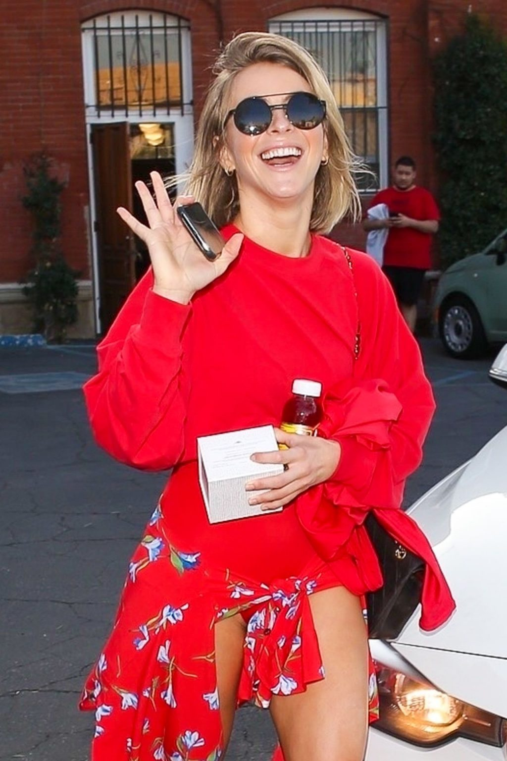 Julianne Hough & Brooks Laich Appear Over the Moon as They Exit Pico Union Project in Downtown LA (13 Photos)