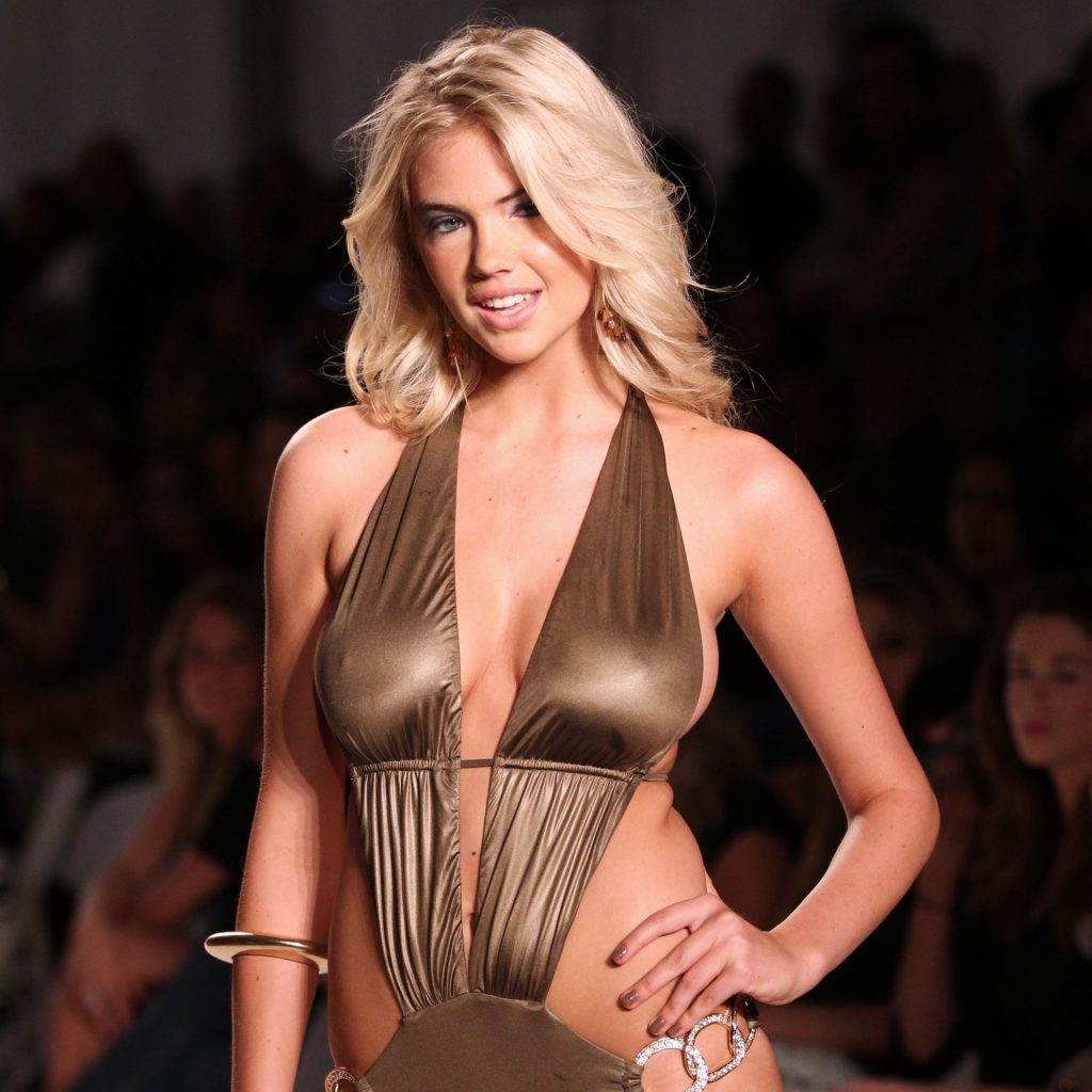 Kate Upton Walks the Runway in a Gold Swimsuit in Miami Beach (19 Photos)