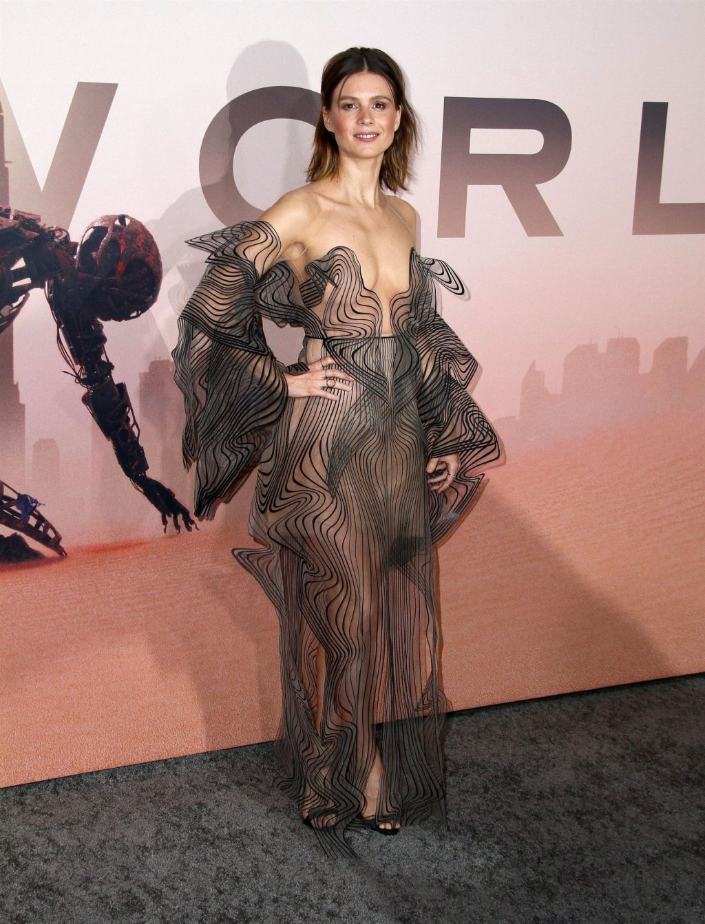 Katja Herbers Flaunts Her Tits at the HBO's Season 3 Premiere of Westworld (17 Photos)