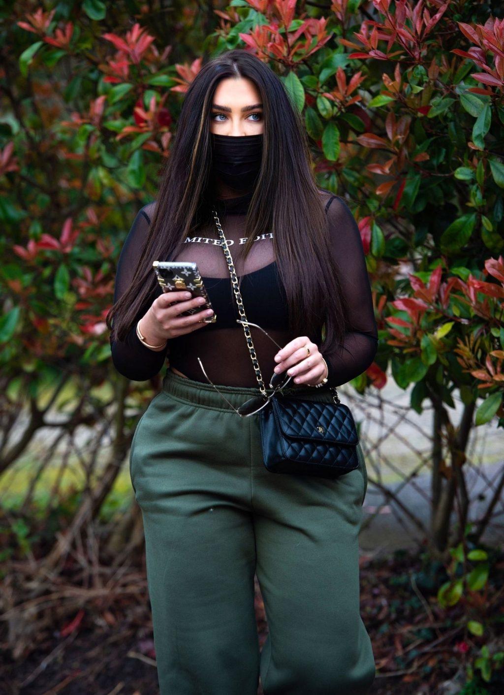 Lauren Goodger Wears a Facial Mask to Protect Against Coronavirus (15 Photos)