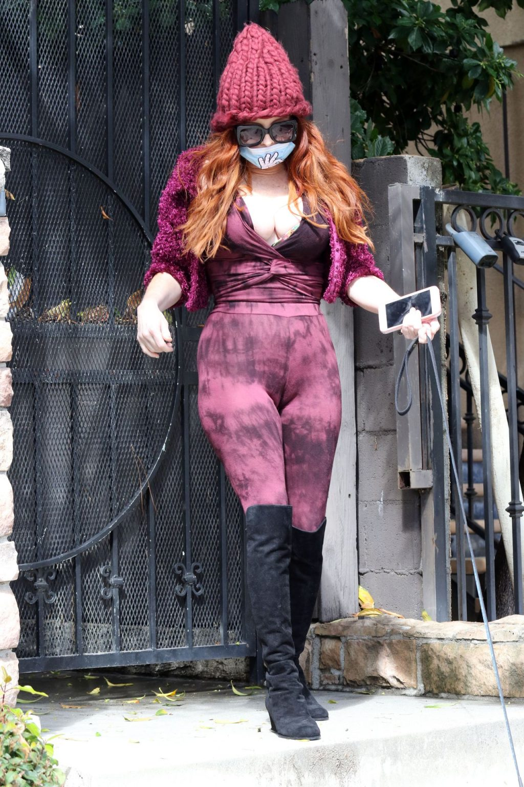 Phoebe Price Walks Her Dog While Nipple Out (19 Photos)