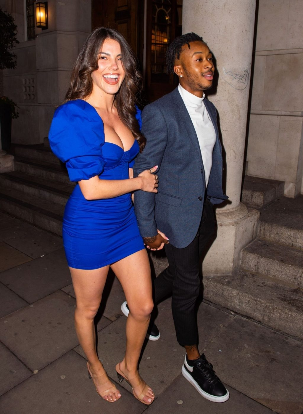 Rebecca Gormley & Biggs Chris Are Seen Heading to Rosso in Manchester (13 Photos)