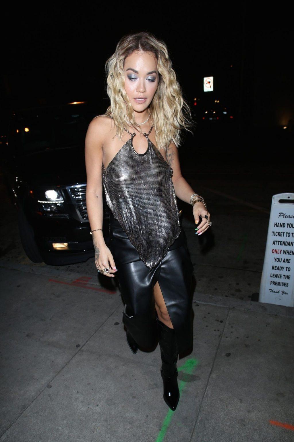 Rita Ora Arrives at Craig's in a Sexy Backless See-Through Top (79 Photos)
