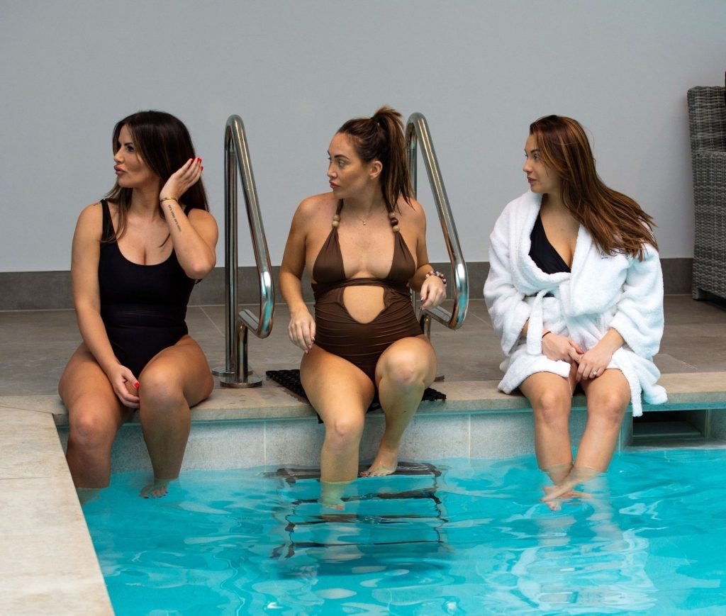The Goodman sisters Chloe, Lauryn and Amelia Enjoy a Little Rest and Relaxation at the Glass House in Essex (20 Photos)