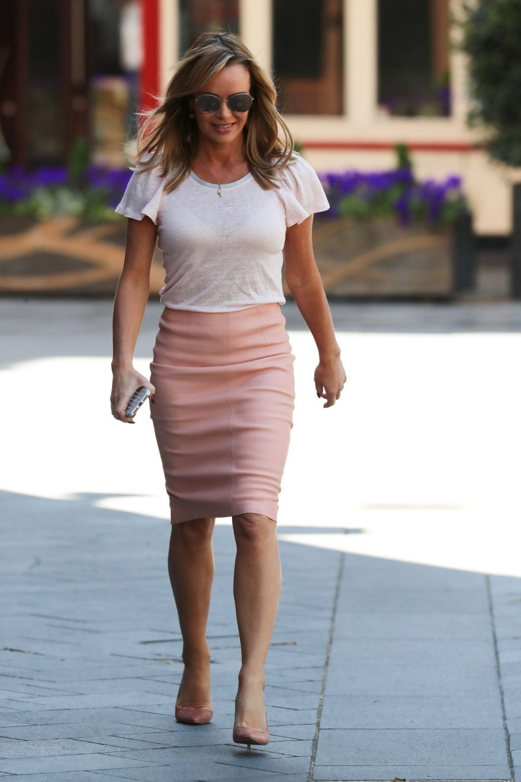 Amanda Holden Was Pictured Leaving the Heart Radio Studios (19 Photos)