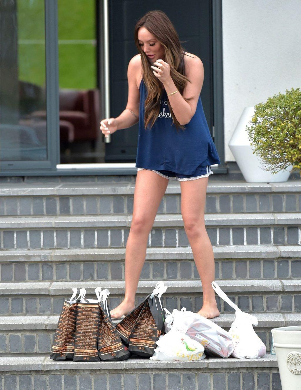Charlotte Crosby Takes in Large Food Order Wearing PJ's (22 Photos)