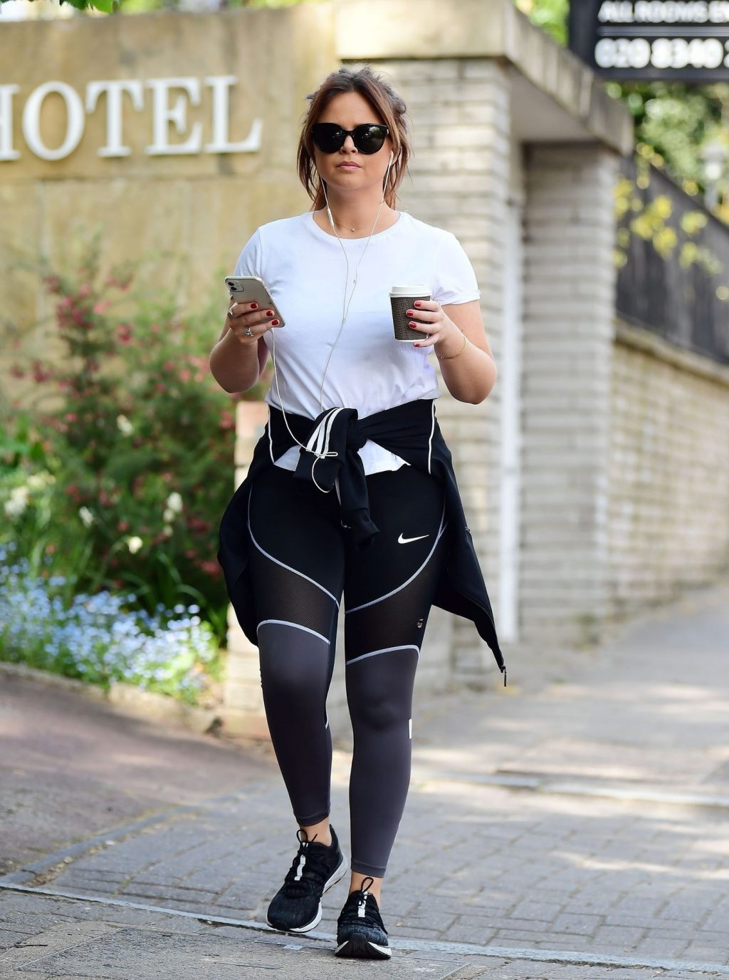 Emily Atack Looks Sporty Out for a Walk (20 Photos)