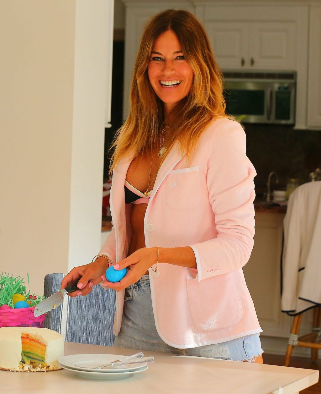 Kelly Bensimon Spends Easter in a One-Piece with Her Family in West Palm Beach (45 Photos)