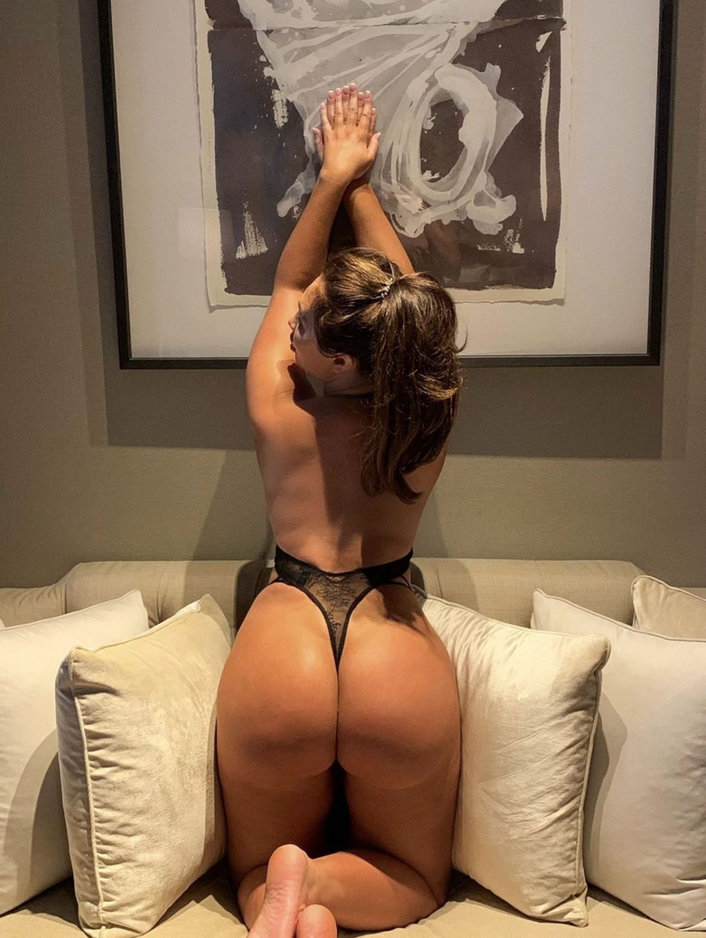 Lauren Goodger Pictured Showing Off Her Ass at Home in Essex (2 Photos)