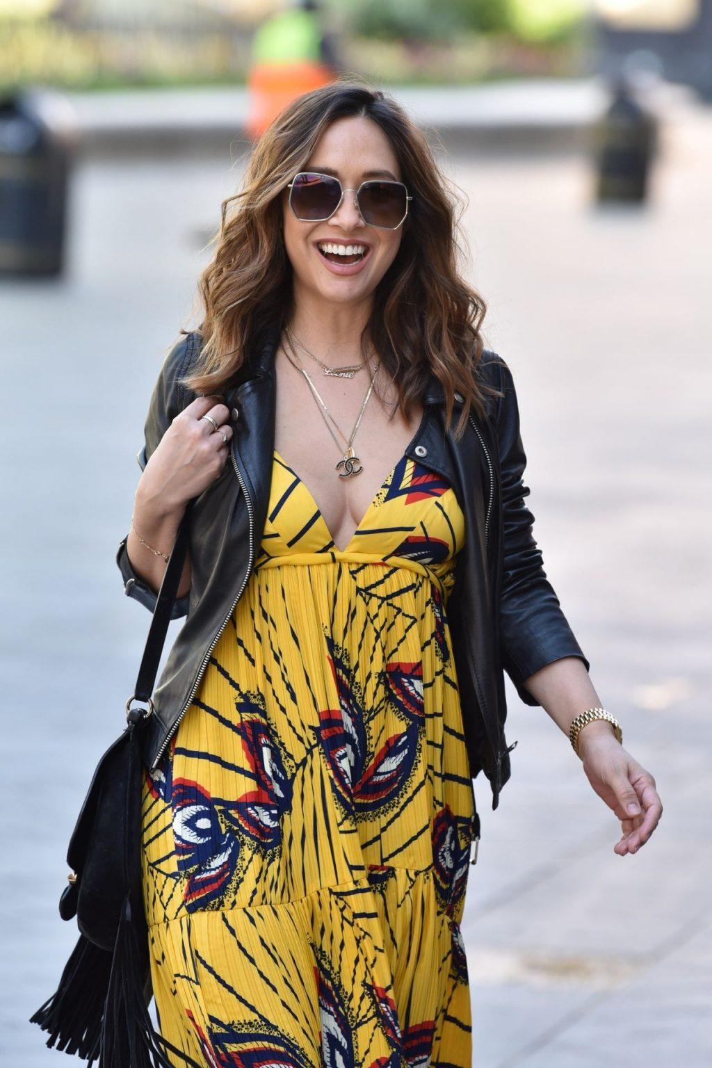 Myleene Klass Looks in Good Spirits as She Arrives at Smooth Radio (24 Photos)