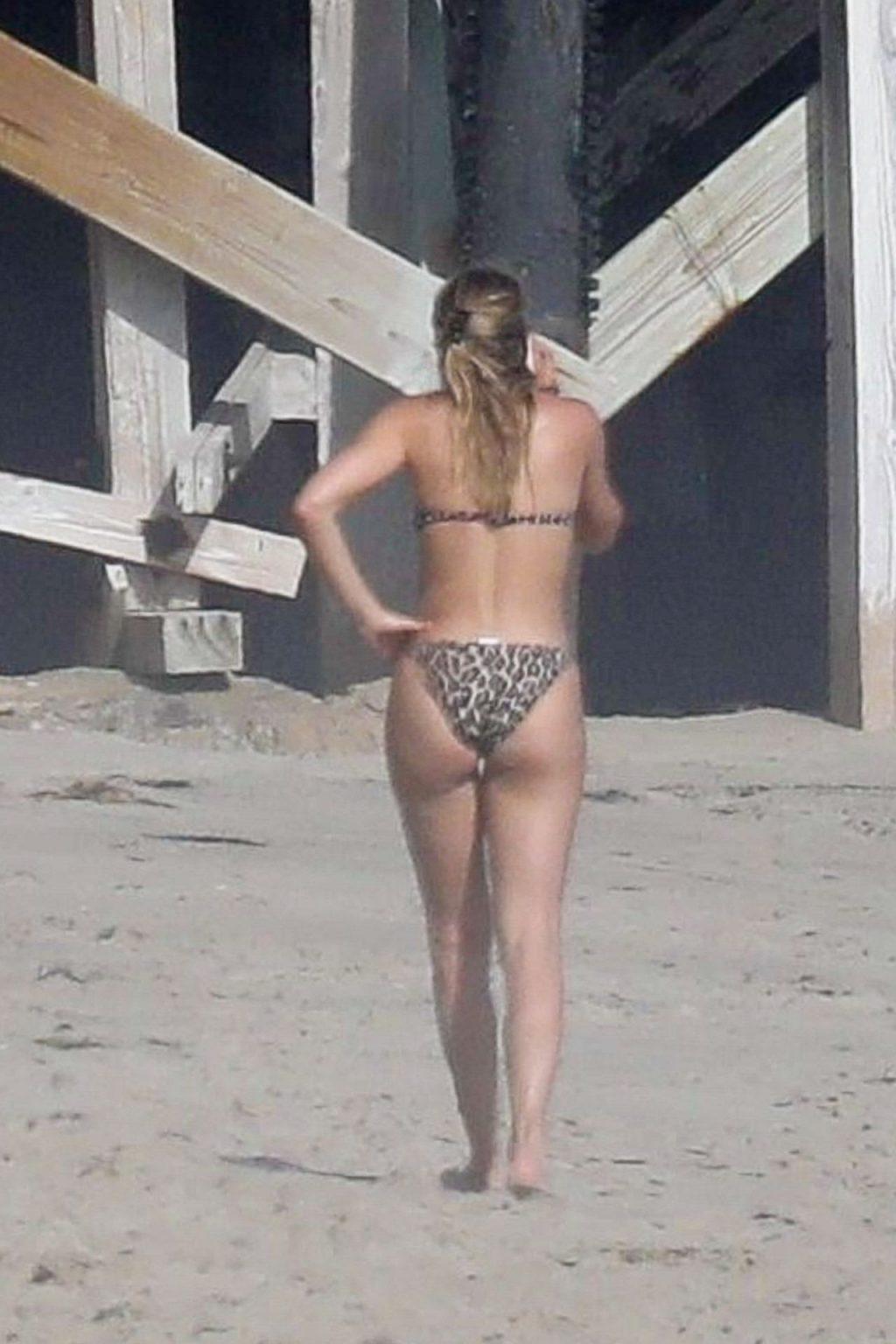 Sofia Richie Wears a Leopard Print Bikini Tanning with Scott Disick in Malibu (39 Photos)