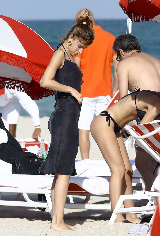 Ursula Corbero & Chino Darin Catch Some Rays on the Beach in Miami (30 Photos)
