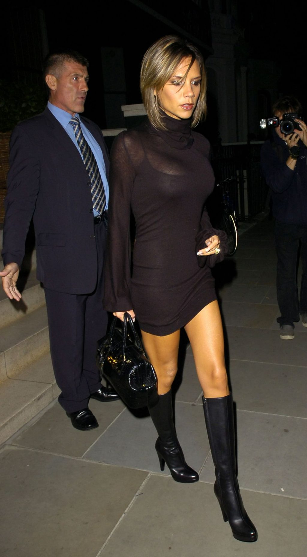 Victoria Beckham Shows Off Her Tits in a Sheer Dress (50 Photos)