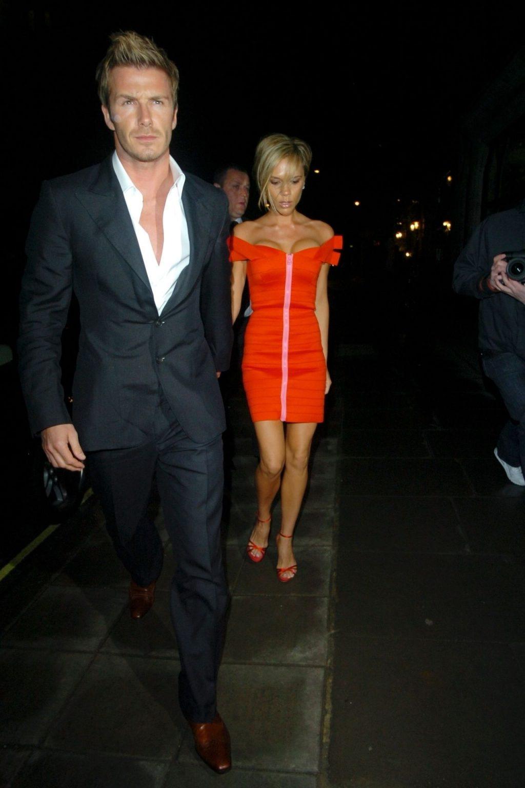 Leggy Victoria Beckham Stuns in a Beautiful Dress in London (17 Photos)