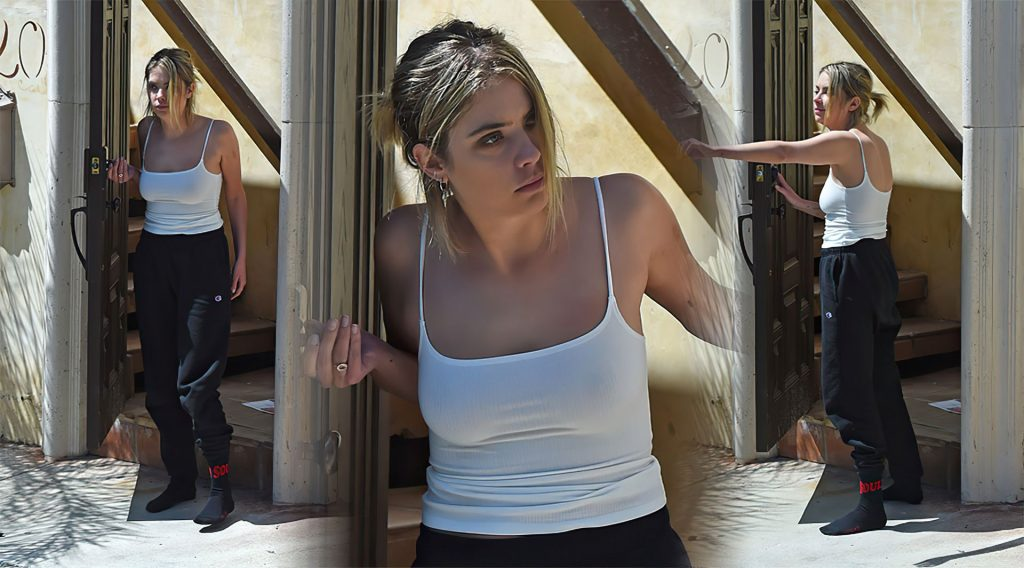Ashley Benson Shows Her Tits at G-Eazy's House in LA (12 Photos)