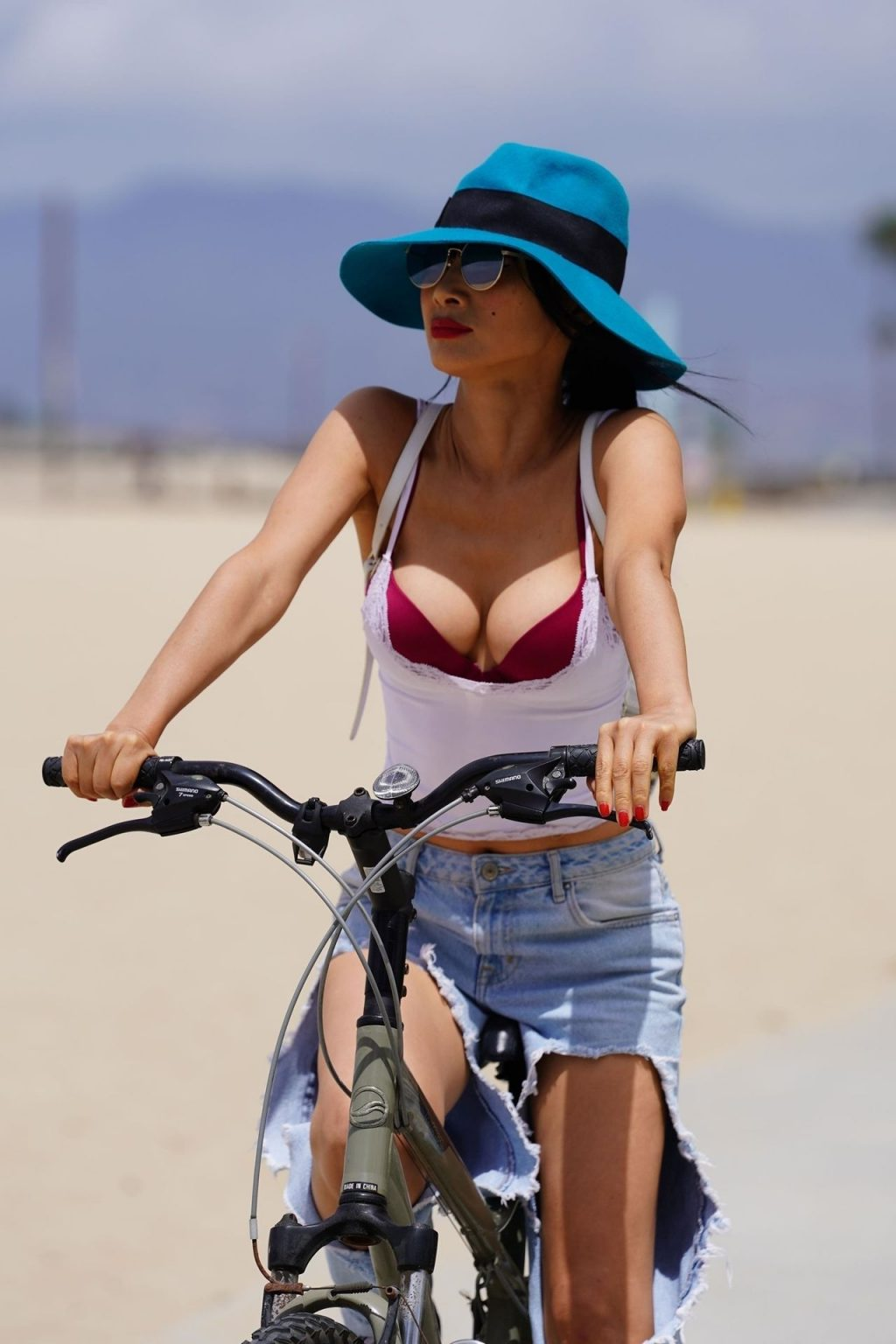Bai Ling Enjoys a Day in Jeans with Big Holes (25 Photos)