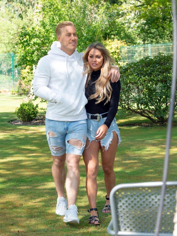 Bianca Gascoigne & Kris Boyson are Seen in Their Local Park in Kent (12 Photos)