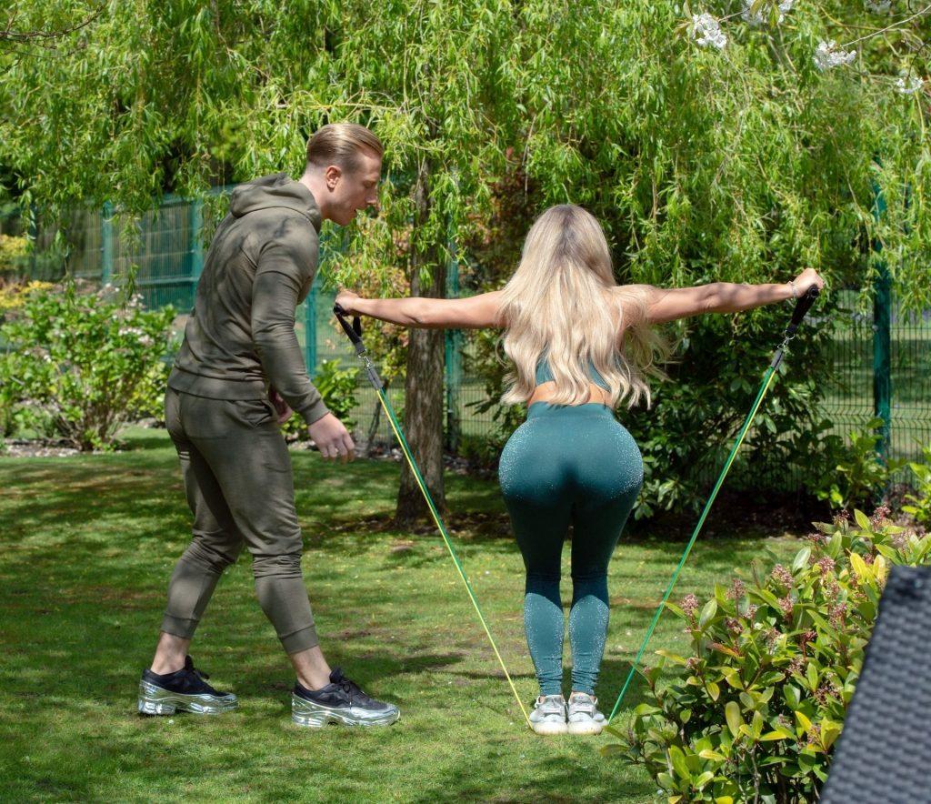 Bianca Gascoigne & Kris Boyson are Seen Working Out in Gravesend (21 Photos)
