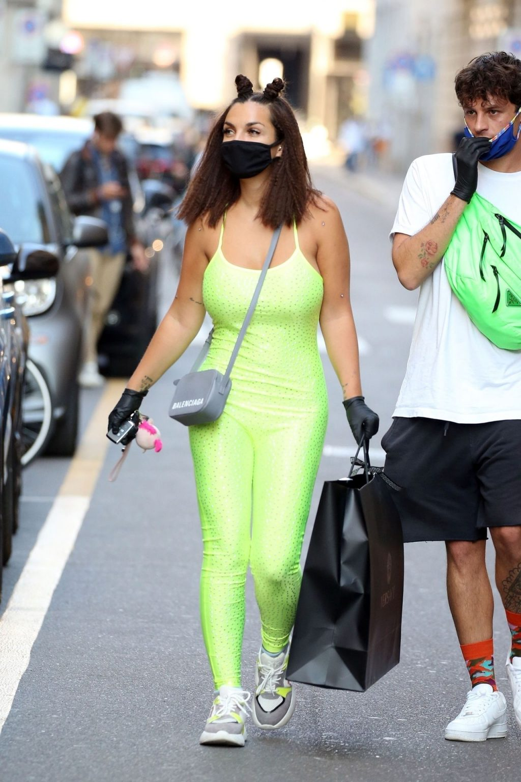 Elettra Lamborghini Shows Her Curves at Versace Store in Milan (38 Photos)