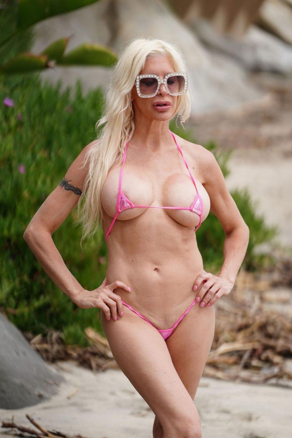 Frenchy Morgan Wears a Barely There Bikini in Malibu (21 Photos)