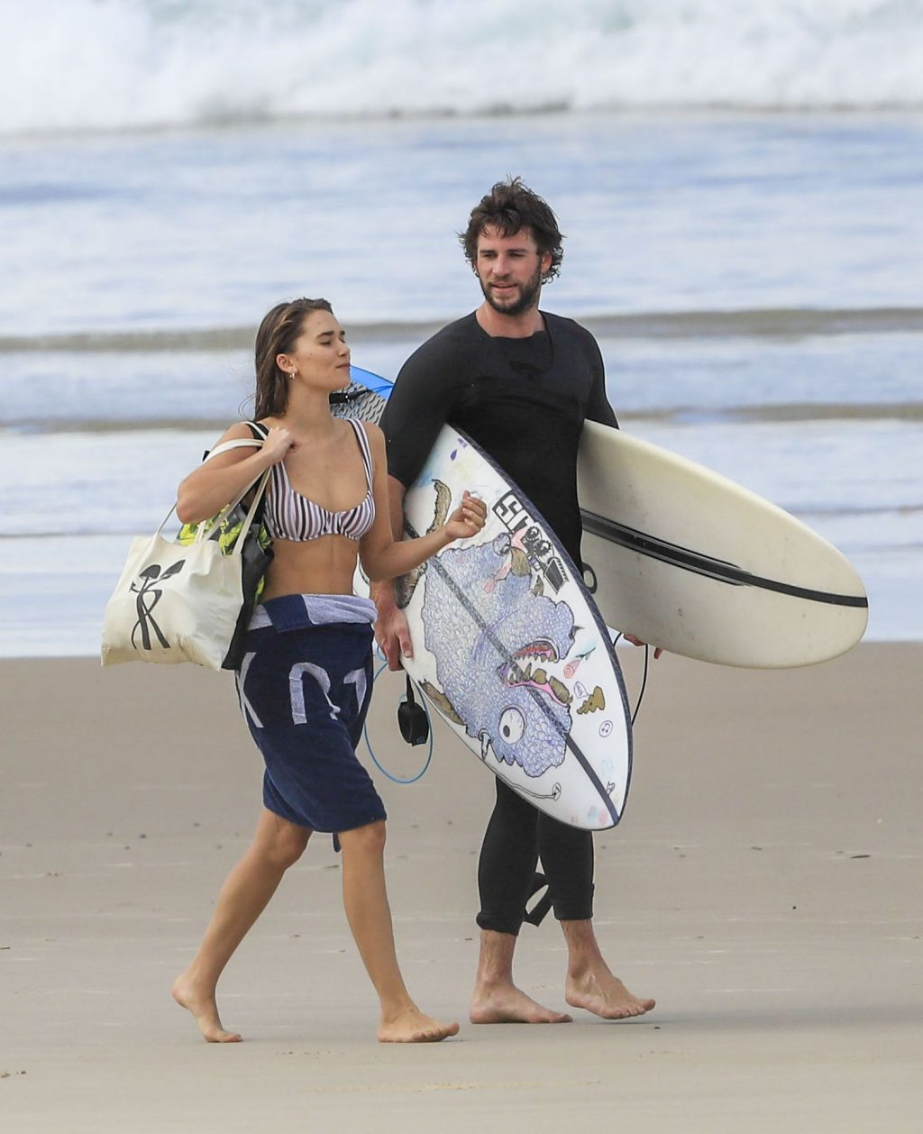 Gabriella Brooks Shows Off Her Fit Body on the Beach in Byron Bay (21 Photos)