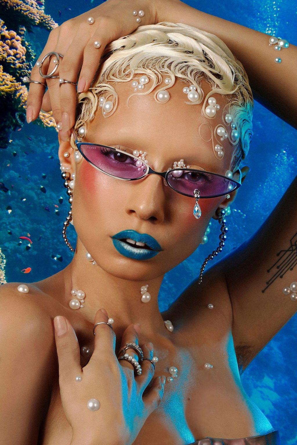 Jazzelle Zanaughtti Poses for CHRISHBAN's New Eyewear Collection (8 Photos)