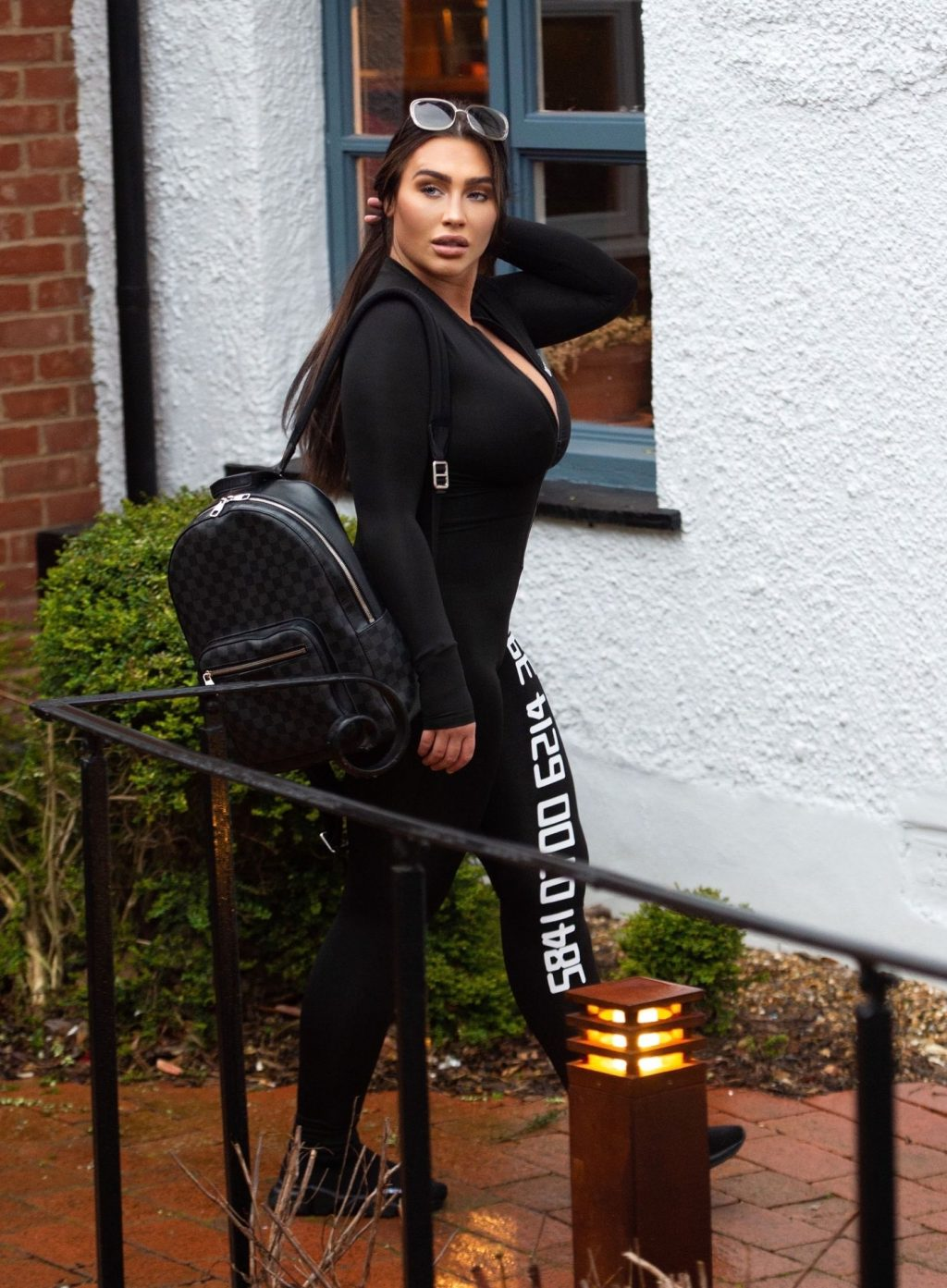Lauren Goodger is Seen Leaving Her Home in a Black Jumpsuit (20 Photos)